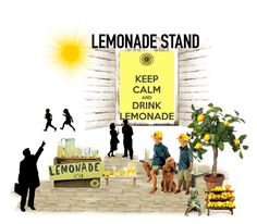 """""""Lemonade Stand!"""" by karen-munoz20 ❤ liked on Polyvore"""