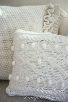 I have a pillow addiction… I just can't have enough of them!!!This winter I am warming up the beds and sofas at StoneGable with SWEATER PILLOWS. These cozy accent pillows are made from sweaters I purchased at Goodwill. Both of these pillows took just a little over an hour to create…   If more »