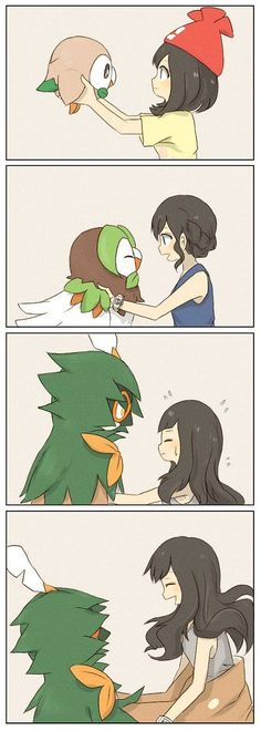 Honestly that is how I would treat my little feathery friend if pokemon were rea. - Honestly that is how I would treat my little feathery friend if pokemon were real. Honestly that is - Pokemon Moon, Decidueye Pokemon, Pokemon Life, Pokemon Comics, Pokemon Funny, Pokemon Memes, Pokemon Fan Art, Real Pokemon, Anime Characters