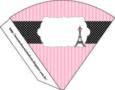 Paris: Invitations and Free Party Printables. in english Paris Birthday Parties, 50th Birthday Party, Party Printables, Paris Rosa, Cone Template, Paris Invitations, Barbie Dolls Diy, Springtime In Paris, Kids Labels