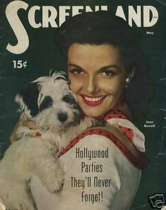 Jane Russell - Screenland Magazine [United States] (May 1951) ♣♣Ernestine Jane Geraldine Russell♣♣ (June 21, 1921 – February 28, 2011)[2] was an American film actress and was one of Hollywood's leading sex symbols in the 1940s She starred in more than 20 films throughout her career.