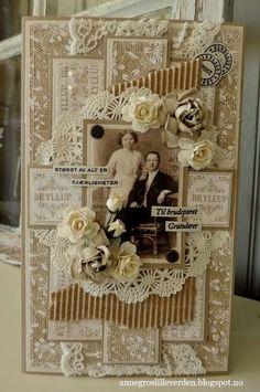 min lille scrappe-verden: Bryllupskort (DT for Vintage Udfordring #101)