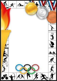 Kids Olympics, Winter Olympics, Olympic Idea, Olympic Games, Borders For Paper, Borders And Frames, Page Boarders, School Border, School Frame