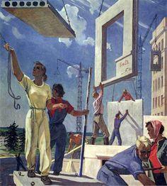 Représenter le corps socialiste: l'exemple du peintre A. Deïneka (1899-1969) (article complet en suivant le fil) - Une époque où un autre monde en construction oscillait entre le rêve, le cauchemar, et la réalité. L'histoire d'un grand chantier inachevé à reprendre?...