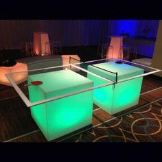 illuminated table tennis