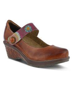 Take a look at this L'Artiste by Spring Step Camel Caliko Leather Mary Jane today!