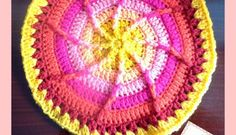 Crochet sun wheel mandala