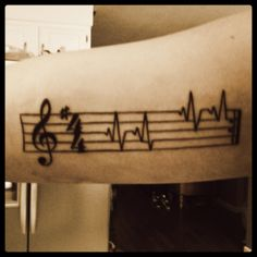 Music tattoo- such an accurate mix of my life!