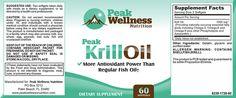 Peak Krill Oil Label