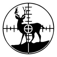 Deer in Crosshairs Die Cut Vinyl Decal PV1937