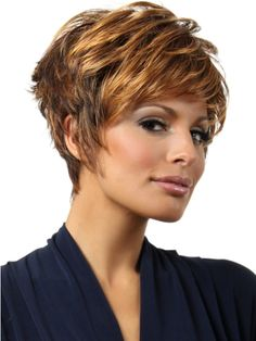 Short hairstyles for thick hair for oval faces