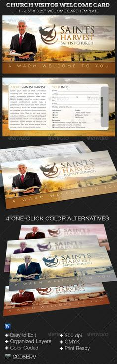 Visitor Card Template you can customize Church Pinterest - guest card template