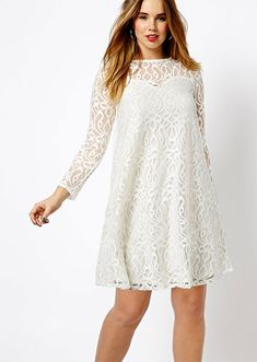 Swing Dress In Baroque Lace, $72.60, ASOS | Community Post: 30 Rad Plus Size Holiday Party Dresses Under $100