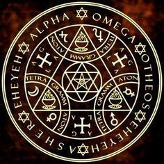 Traditional magic circle from grimoires Alchemy Symbols, Magic Symbols, Ancient Symbols, Viking Symbols, Egyptian Symbols, Viking Runes, Der Klang Des Herzens, Tatoo Symbol, Symbole Protection