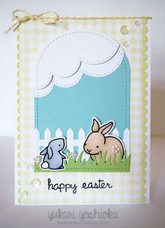 "Sparkle & Shine Challenge Three: ""Happy Easter"" Card by Handmade by Yuki 