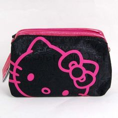 d21996560319 Hello Kitty Cosmetic Hand Bag Make-up Case Black by Hello Kitty. $14.99.