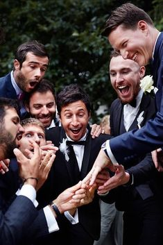 hilarious wedding photos groom with groomsmen show the ring krzysztof tkacz phot. - hilarious wedding photos groom with groomsmen show the ring krzysztof tkacz photography - Wedding Picture Poses, Funny Wedding Photos, Wedding Photography Poses, Party Photography, Photography Photos, Groom Wedding Pictures, Groomsmen Wedding Photos, Wedding Group Photos, Funny Photography