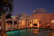 Room Exterior Oceanfront Pool Villa Night Cap Juluca