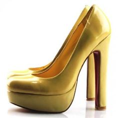 Cheap Christian Louboutin Bibi Thick-Heel Patent Pumps Apricot Sale : Christian Louboutin $192.83