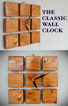 Make yourself a classic wooden clock out of just a spare clock mechanism and a spare piece of lumber.