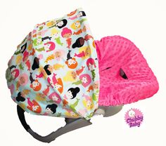 Infant Car Seat Cover Baby Car Seat Cover Girl by ChubbyBaby, $65.00