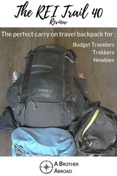 The REI Trail 40 is a pack designed for backcountry adventures and performs amazingly well for hiking, travel, and everything in between. The perfectly sized travel backpack carryon has . Travel Pants, Travel Shirts, Travel Backpack, Best Carry On Backpack, Hiking Essentials, Packing List For Travel, Packing Tips, International Travel Tips, Travel Rewards