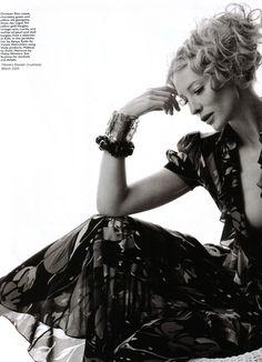 Harper's Bazaar Australia, March 2005  Model: Cate Blanchett    Christian Dior, Spring 2005 RTW