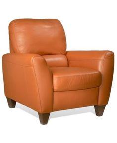 Almafi Leather Recliner | macys.com