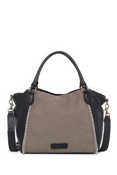 Dara Linen Leather Mix Shoulder Bag by Liebeskind on @nordstrom_rack