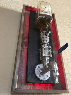 Dispensador de licor de montaje de pared de botella grande