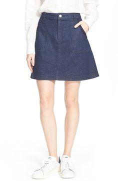 SEE BY CHLOÉ A-Line Stretch Denim Skirt. #seebychloé #cloth #