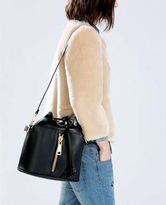 For the Fall: ZIPPED BUCKET BAG // Zara