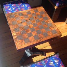 Chess board side table | Against The Grain Studio