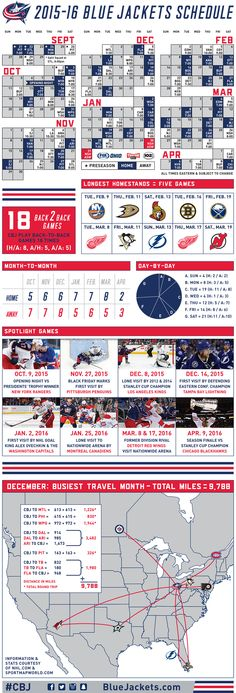 Printable Columbus Blue Jackets Hockey Schedule 2015 - 2016 | The