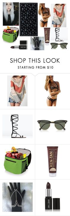 """""""Heidi Sykes at the beach"""" by kitty-cat-queen ❤ liked on Polyvore featuring Zara, Alexander McQueen, Ray-Ban, Xen-Tan and Lord & Berry"""
