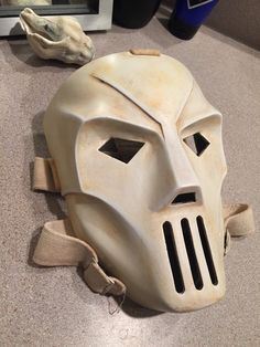 Mask will fit just about anyone. You will get a raw casting made in fiberglass and polyester resin. THE MASK WILL BE VERY STRONG BUT NOT