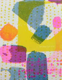 Risograph Beautiful Oops 1 by EstherCoxsKiosk on Etsy