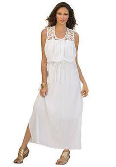 Plus Size Lace Detail Maxi Dress