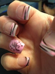 Browning Camo nails!!! Would love to do these in green