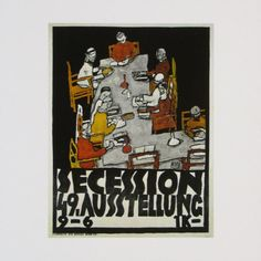 Poster of the 49th Secession Exhibition, c.1918 Art Print