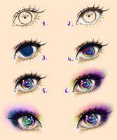 Galaxy Eyes - Tutorial by Kipichuu on DeviantArt - Galaxy Eyes – Tutorial by Kipichuu.SeedingAbunda… www. How To Draw Galaxy, Galaxy Eyes, Anime Galaxy, Galaxy Hair, Realistic Eye Drawing, Drawing Eyes, Drawing Hair, Manga Drawing, Photoshop