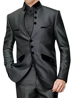 Front Open 3 pc Nehru Suit NS120 40XL Dark-Grey INMONARCH http://www.amazon.com/dp/B00LAS3Y6S/ref=cm_sw_r_pi_dp_d2wTub1J38X77