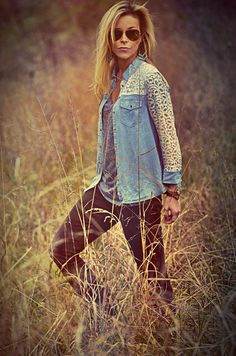I want that lace jean top!!
