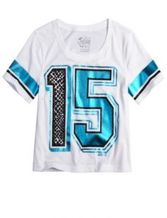 Varsity Shrunken Graphic Tee | Girls Graphic Tees Clothes | Shop Justice