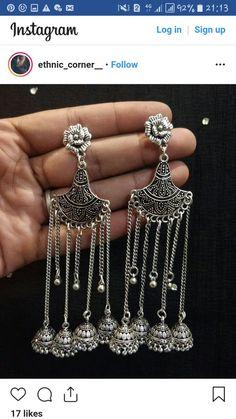 Silver Ring With Emerald Stone Jewelry Design Earrings, Beaded Jewelry, Handmade Jewelry, Jewellery Diy, Jewelry Art, Jewelry Making, Silver Jewellery Indian, Indian Wedding Jewelry, Silver Jewelry