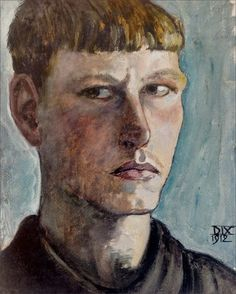 Otto Dix · Autoritratto · 1912 · Ubicazione ignota