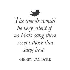 "wall quotes wall decals - ""The woods would be very silent if no birds"