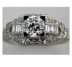 .97 Carat GIA Art Deco Engagement Ring