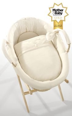 Pure Love Dressed Moses Basket  - Moses-Basket-w-M&B-logo