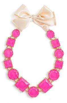 kate spade new york 'crystal kaleidoscope' long statement necklace